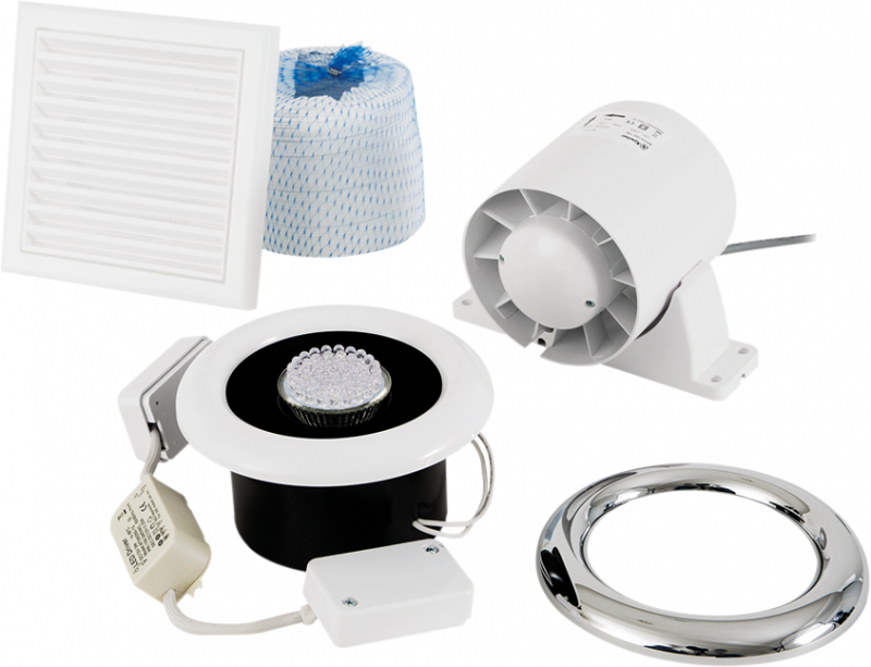 Airline LED - Airline LED 100 Inline Extract Fan - ALL100 - 0