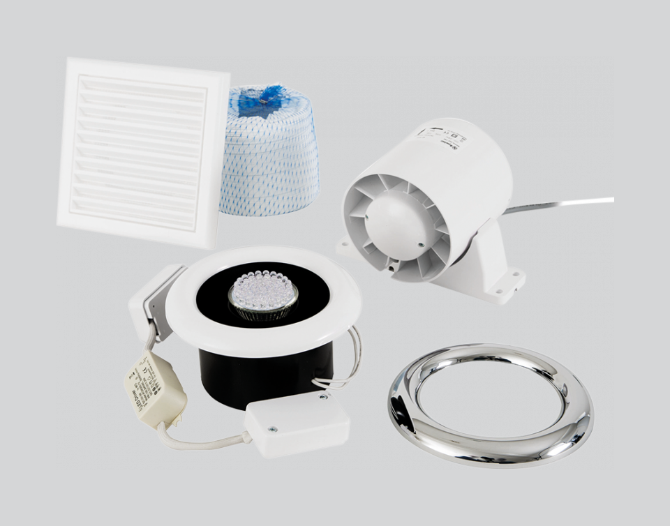 Airline LED - Airline LED 100T Inline Extract Fan - ALL100T - 0